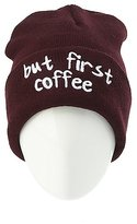 """Charlotte Russe """"""""But First Coffee"""""""" Knit Beanie"""