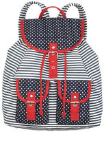 Delia's Navy Dot/Stripe Backpack