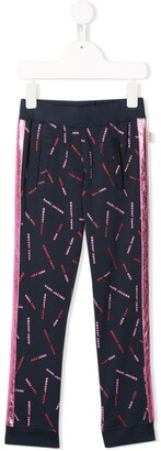 The Marc Jacobs Kids Logo Print Track Trousers