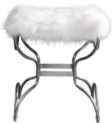 Uttermost Channon Faux Fur Bench