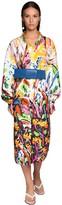 Marni Graffiti Print Cotton Poplin Shirt Dress
