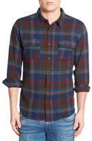 Ezekiel Hiker Plaid Long Sleeve Trim Fit Shirt
