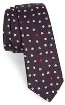Paul Smith Men's Poker Silk Skinny Tie
