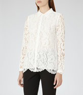 Reiss Yasmina Lace Blouse