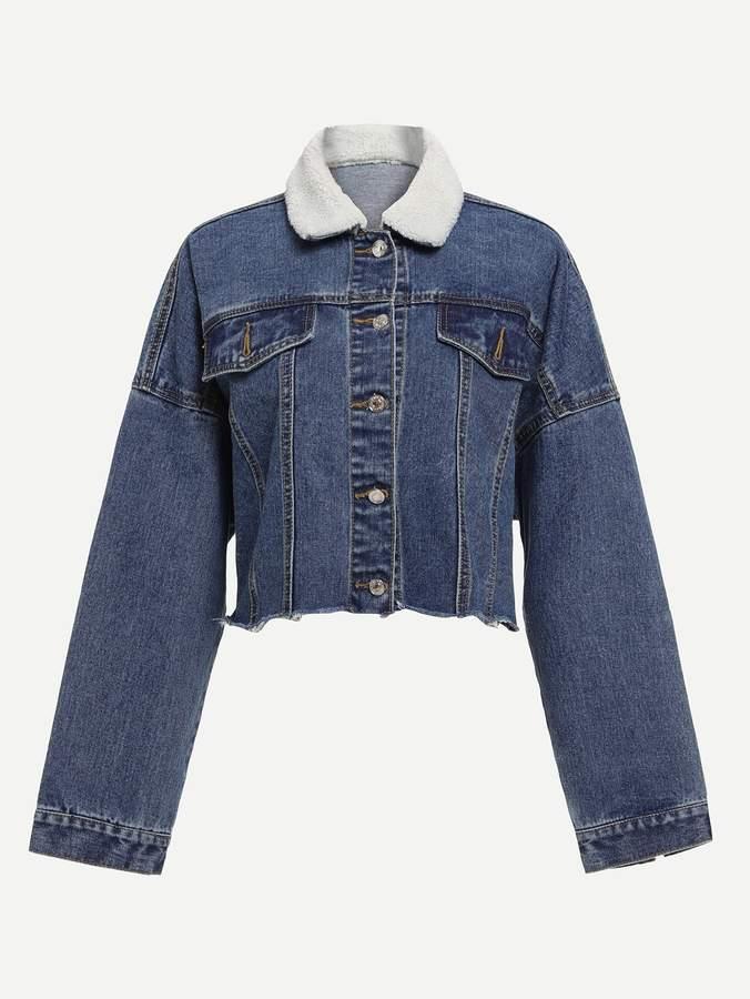 07982fbeed Shein Blue Fur & Shearling Coats - ShopStyle