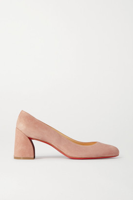 Christian Louboutin Miss Sab 55 Suede Pumps - Neutral