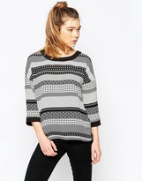 Ichi Mixed Striped Top