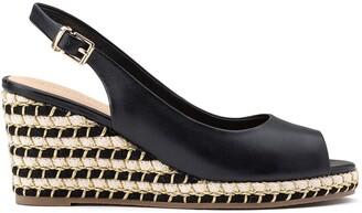 Cosmo Paris Himla Leather Wedge Sandals