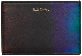 Paul Smith Black and Blue Gradient Card Holder