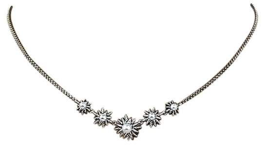 David Yurman Sterling Silver and Pearl 5 Stations Starburst Necklace