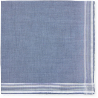 Simonnot Godard Contrast-Trim Pocket Square