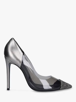 Carvela Geometric Perspex Embellished Court Heels