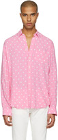 Saint Laurent Pink Polka Dot Shirt