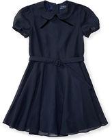 Ralph Lauren Chiffon Cap-Sleeve Dress