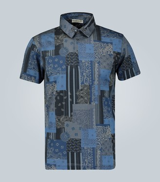 Etro Printed cotton polo shirt
