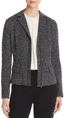 St. John Mélange Tweed Zip Jacket