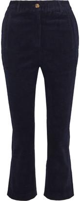 Walter Baker Jenna Cropped Cotton-blend Corduroy Bootcut Pants