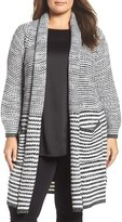 Melissa McCarthy Plus Size Women's Long Open Front Cardigan