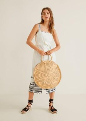 MANGO Embroidered cotton dress ecru - 2 - Women