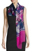 St. John Rainforest Floral Silk Scarf, Orchid/Multi