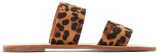La Redoute Collections Leopard Print Flat Mules