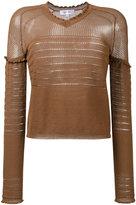 Carven lingerie knit jumper - women - Cotton/Nylon - S