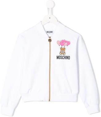 MOSCHINO BAMBINO Zipped Sweatshirt
