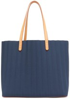Mansur Gavriel Pleated Canvas Tote Bag - Womens - Navy