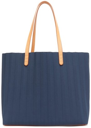 Mansur Gavriel Pleated Canvas Tote Bag - Navy