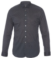 John Varvatos Pin-dot Print Cotton Shirt