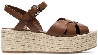 Prada 65mm wedge espadrille sandals