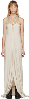 Rick Owens Grey Megalaced Slip Dress