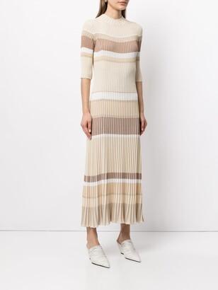 Proenza Schouler Ribbed-Knit Striped Dress