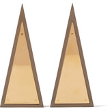 J.W.Anderson Gold-Plated Resin Earrings