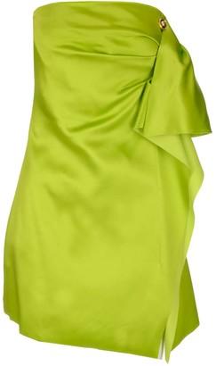 Versace Draped Strapless Dress