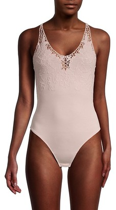 Free People Lea Floral Embroidery Bodysuit