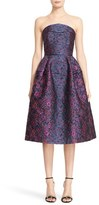 Talbot Runhof Women's Strapless Degrade Brocade Dress