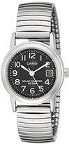 Casio Women's LTP-S100E-1BVCF Easy-To-Read Solar Stainless Steel Watch