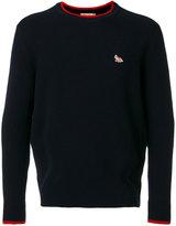 MAISON KITSUNÉ round neck jumper - men - Lambs Wool - S