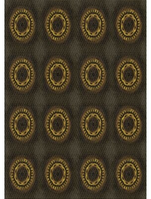 East Urban Home Patterned Black/Brown Area Rug Rug Size: Rectangle 5' x 7'