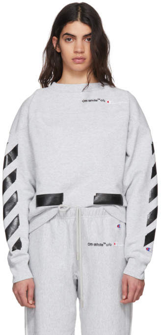 Off-White Off White Grey Champion Edition Sweatshirt