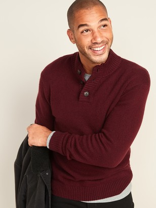 Old Navy Mock-Neck Three-Button Sweater for Men