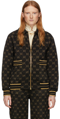 Gucci Black and Gold Lurex GG Jacket