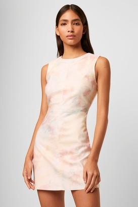 French Connenction Sade Tie Dye Denim Shift Dress