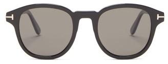 Tom Ford Jameson Round Acetate Sunglasses - Womens - Black