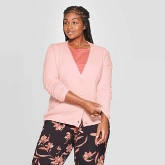 Ava & Viv Women's Plus Size Long Sleeve Open Layering Button Front Cardigan - Ava & VivTM