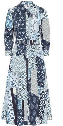 Oscar de la Renta Cotton-poplin midi shirt dress