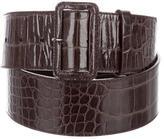 Prada Embossed Patent Leather Belt