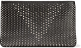 Christian Louboutin Loubiposh Spiked Textured-leather Clutch - Black