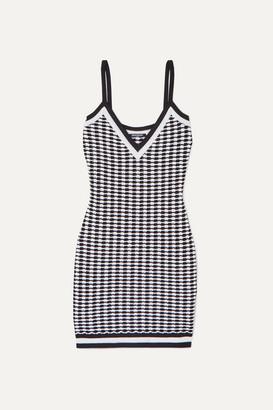 Balmain Stretch-knit Mini Dress - Black